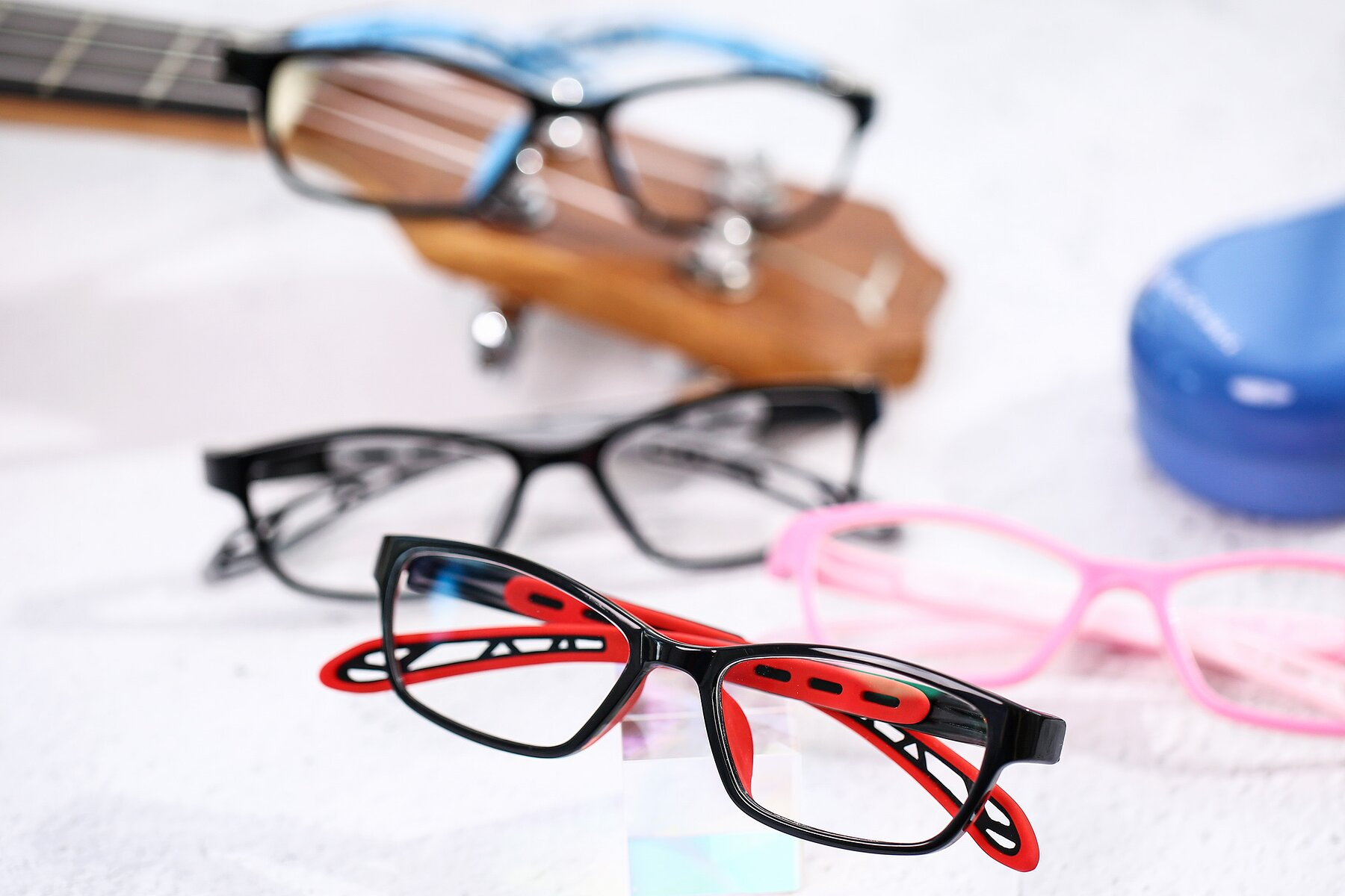 Lifestyle photography #4 of 1075 in Black-Red with Clear Blue Light Blocking Lenses