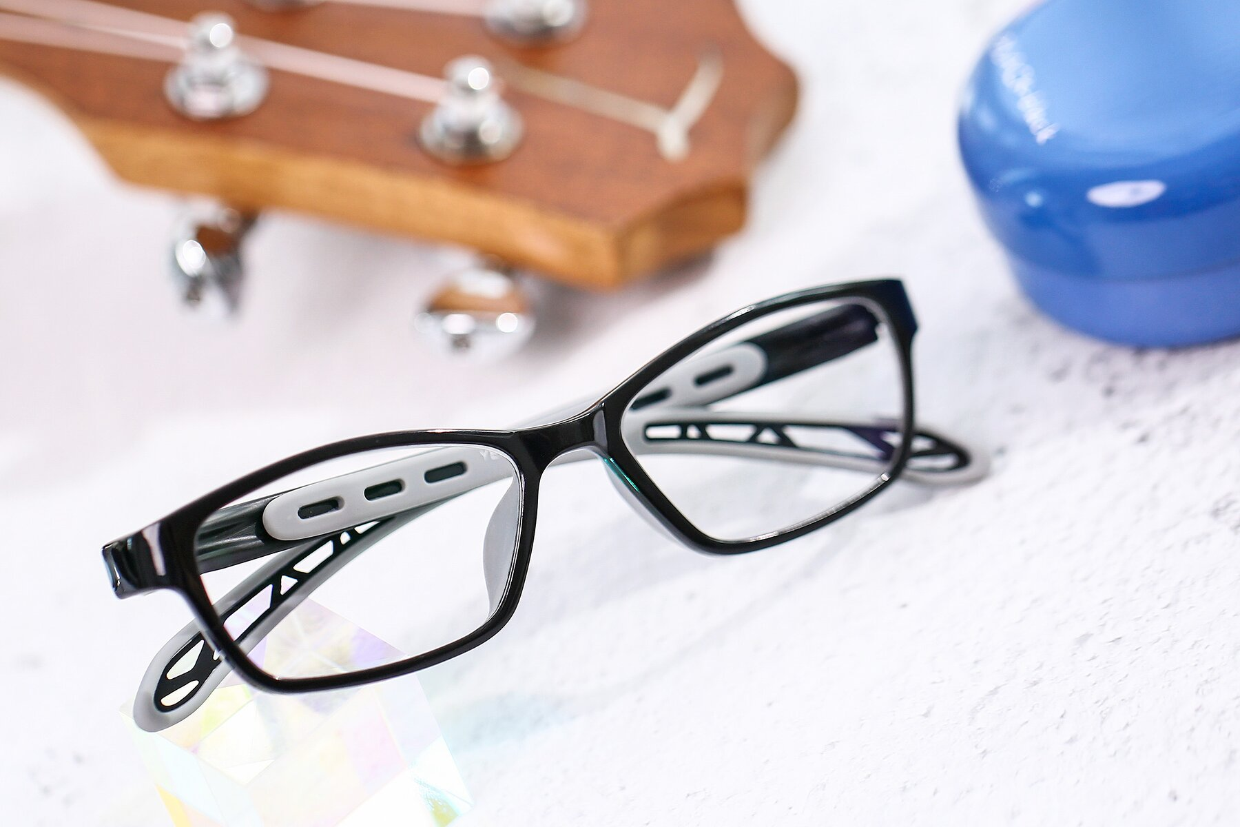 Lifestyle photography #1 of 1075 in Black-Gray with Clear Eyeglass Lenses