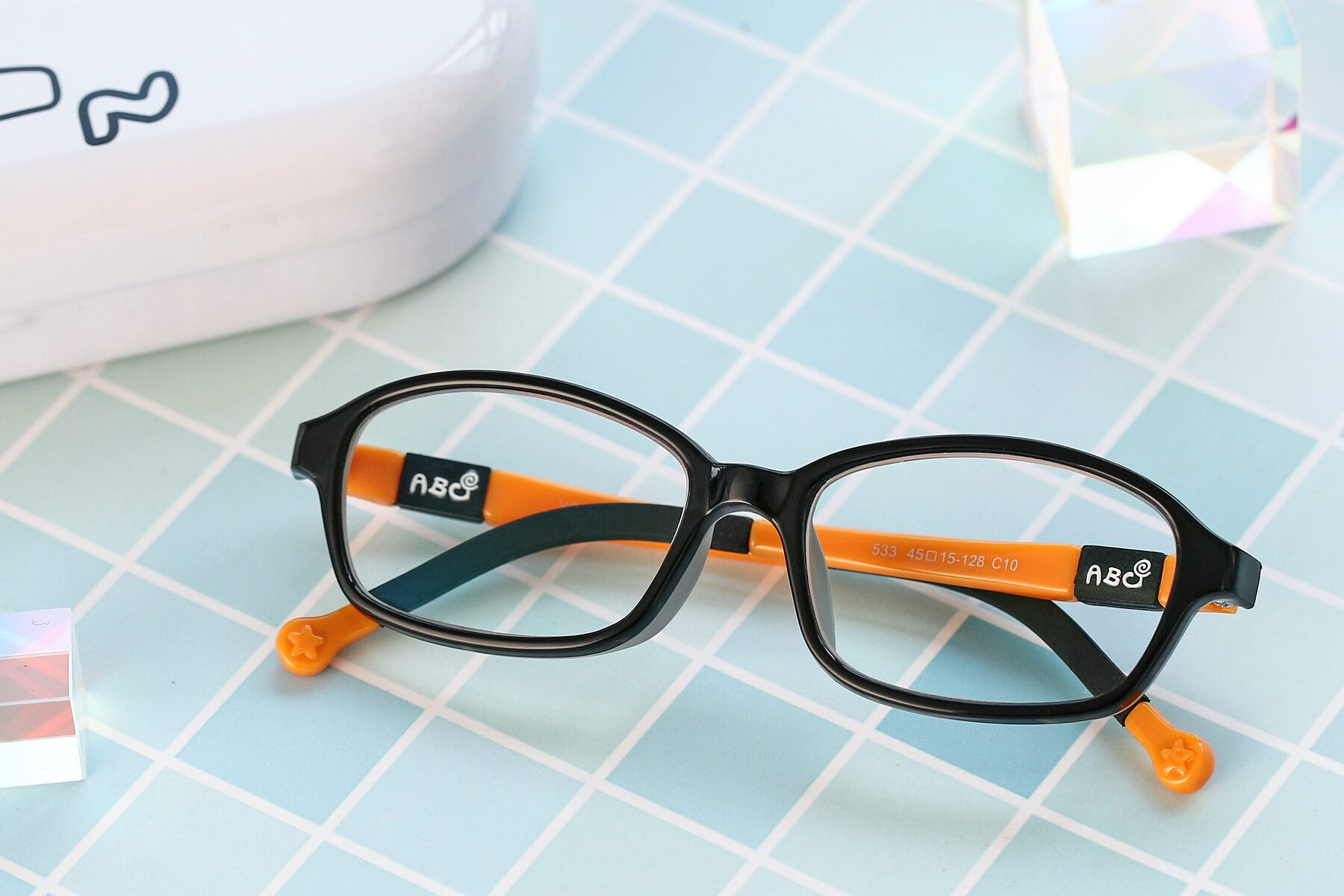 Lifestyle photography #1 of 533 in Black-Orange with Clear Blue Light Blocking Lenses