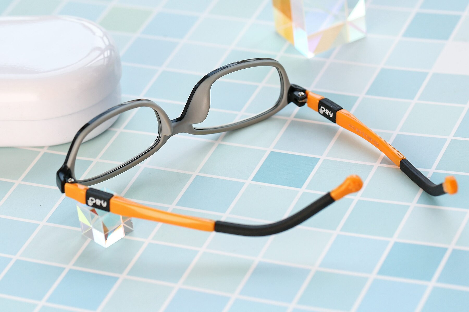 Lifestyle photography #2 of 533 in Black-Orange with Clear Eyeglass Lenses