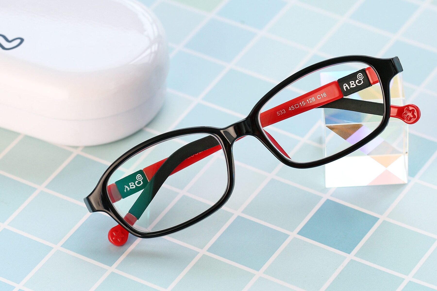 Lifestyle photography #1 of 533 in Black-Red with Clear Blue Light Blocking Lenses