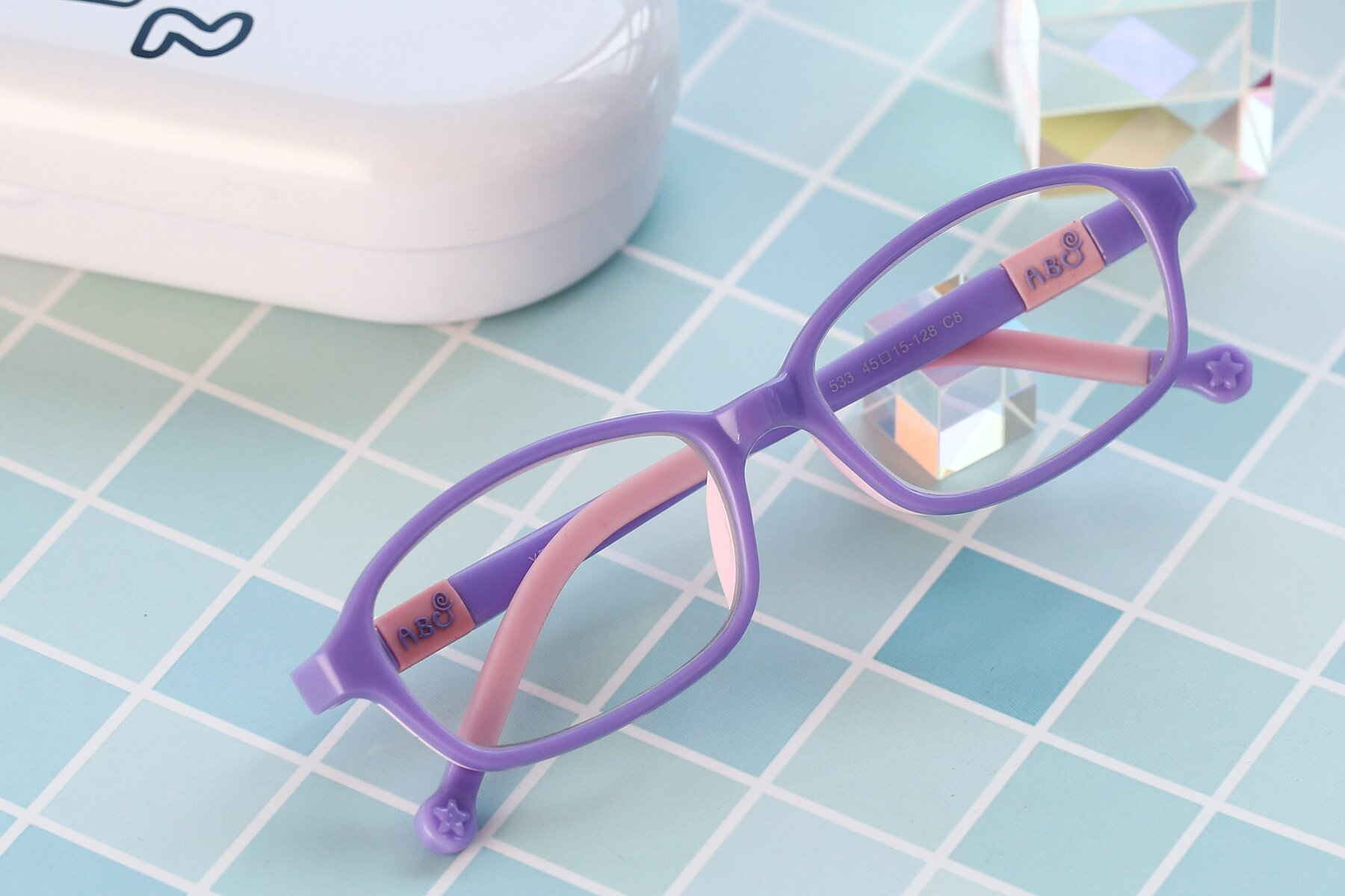 Women's lifestyle photography #1 of 533 in Purple-Pink with Clear Eyeglass Lenses