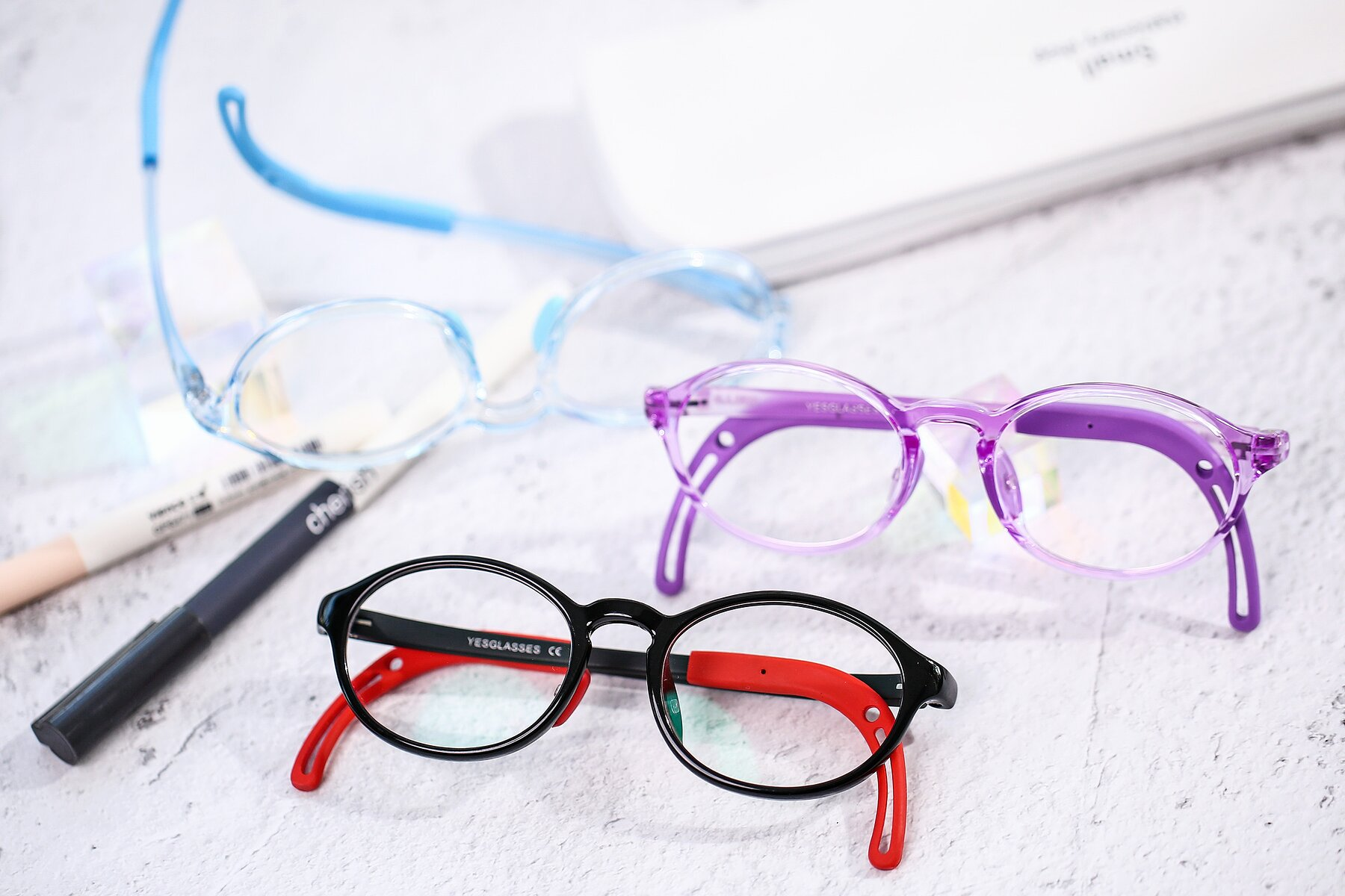 Lifestyle photography #4 of 8373 in Black-Red with Clear Blue Light Blocking Lenses