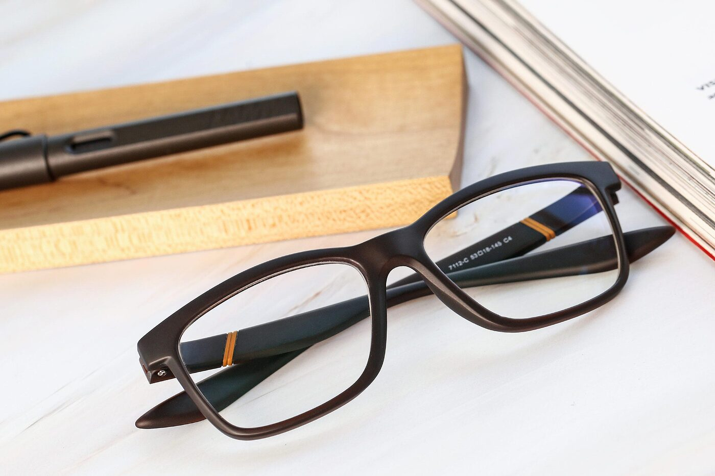 Matte Coffee Wayfarer Wrap Around TR90 Eyeglasses