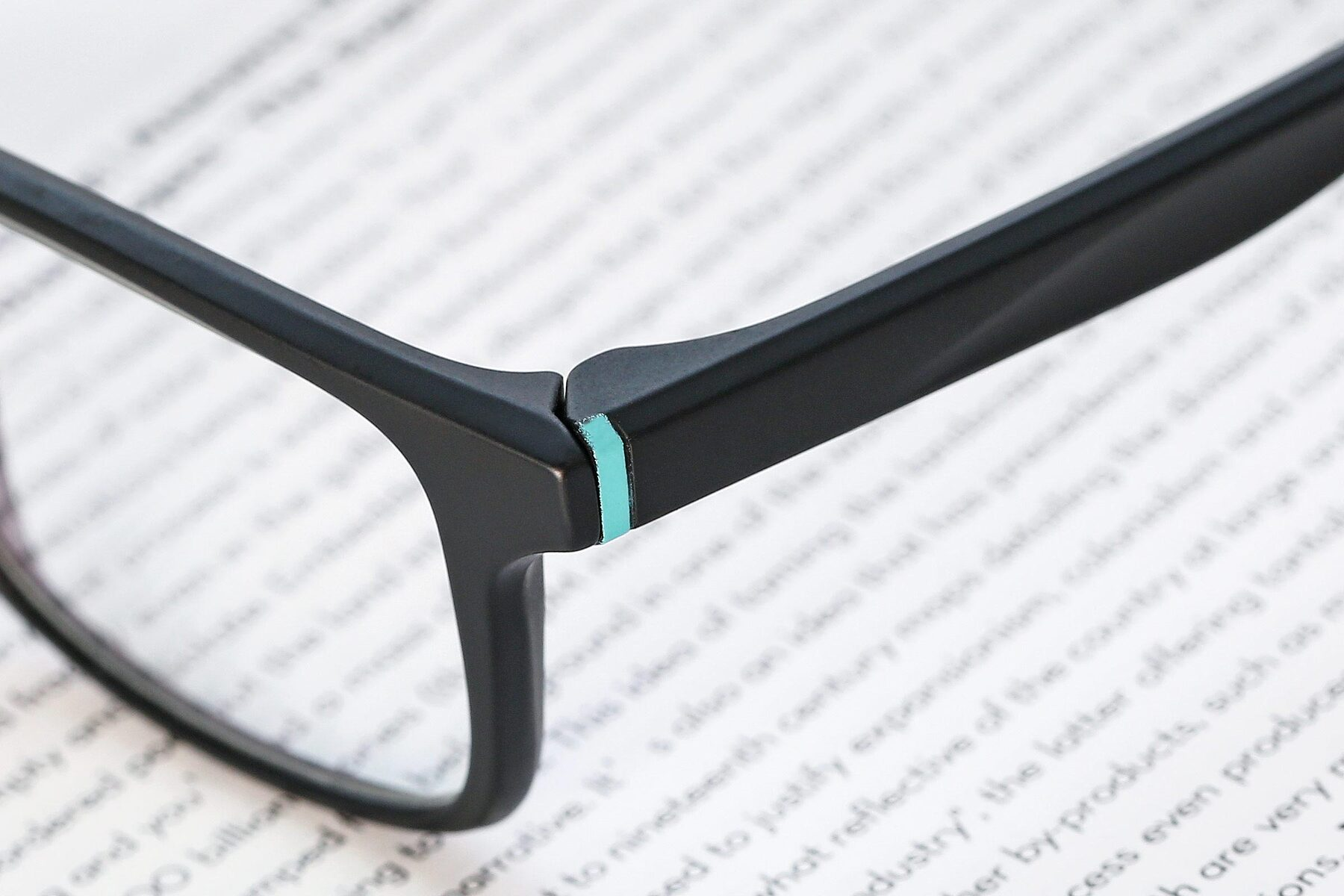 Lifestyle photography #3 of AC4280 in Matte Black-Cyan with Clear Eyeglass Lenses