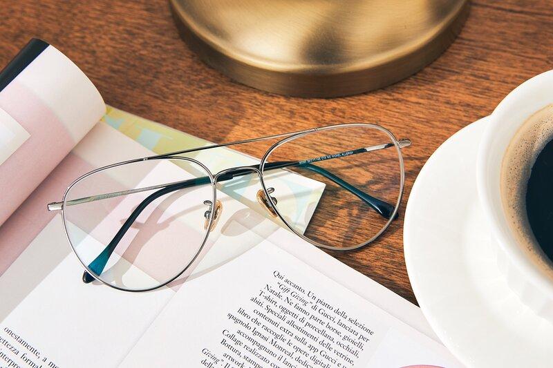 Gun Classic Titanium Aviator Eyeglasses