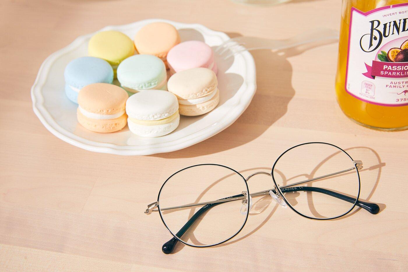 Black-Silver Grandpa Oversized Round Eyeglasses