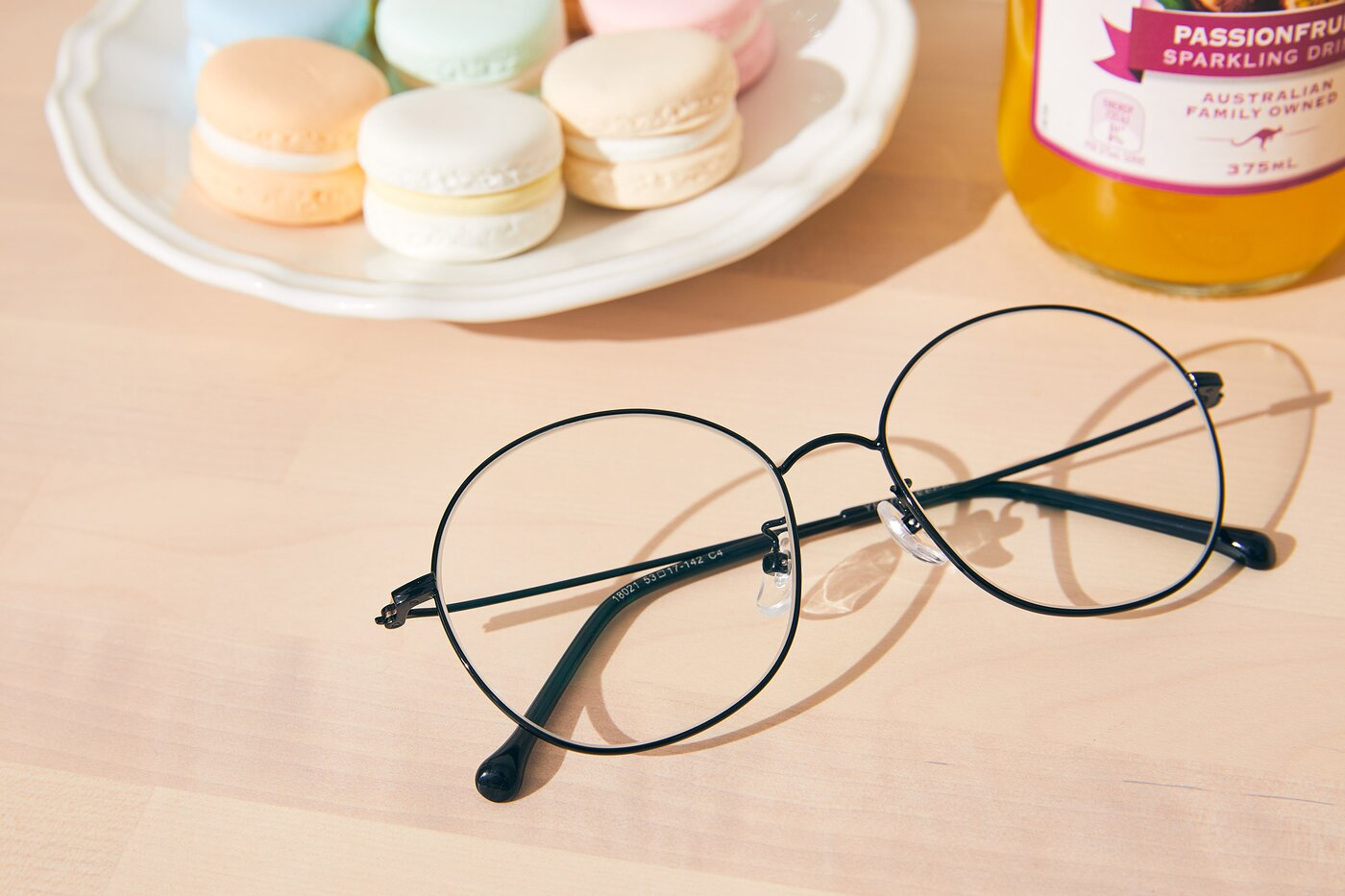 Black Grandpa Oversized Round Eyeglasses