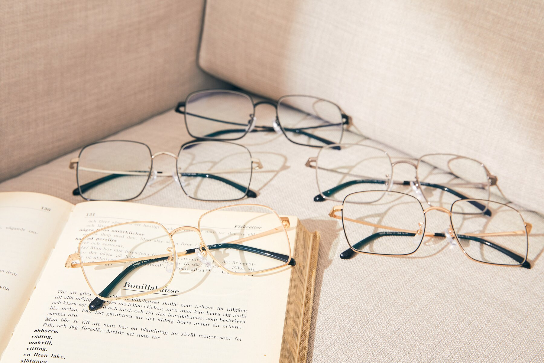Lifestyle photography #4 of Billie in Gold with Clear Eyeglass Lenses