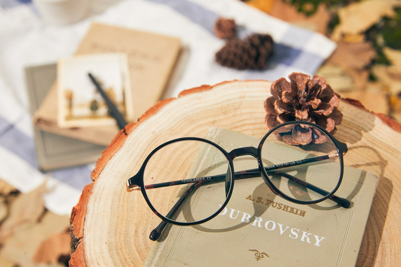 Tortoise Low Bridge Fit TR90 Round Eyeglasses