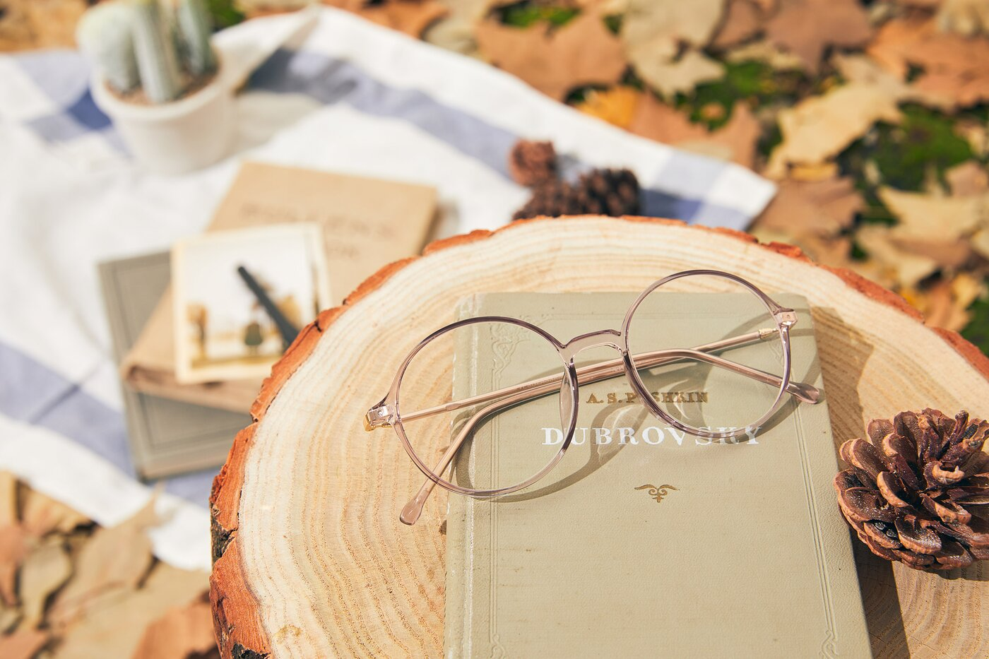 Amber Low Bridge Fit TR90 Round Eyeglasses