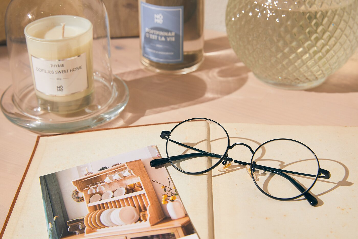 Black Thin Metal Round Eyeglasses