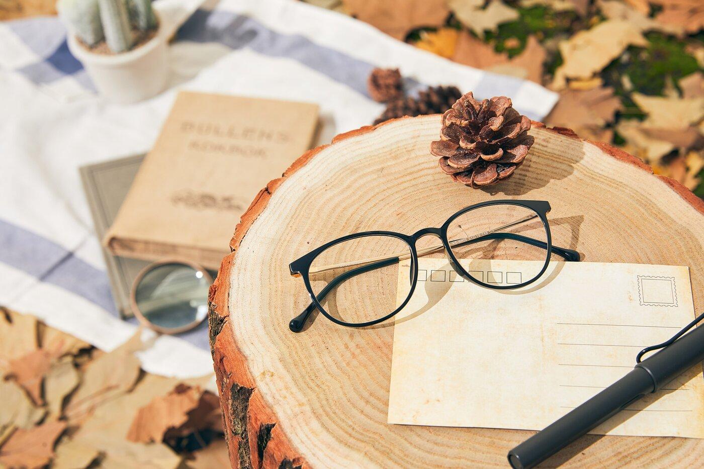 Black-Gold Wayfarer Lightweight TR90 Eyeglasses