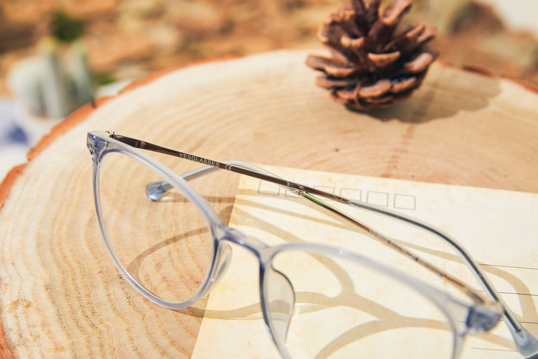 Lifestyle photography #3 of XC-6006 in Blue Amber-Silver with Clear Eyeglass Lenses