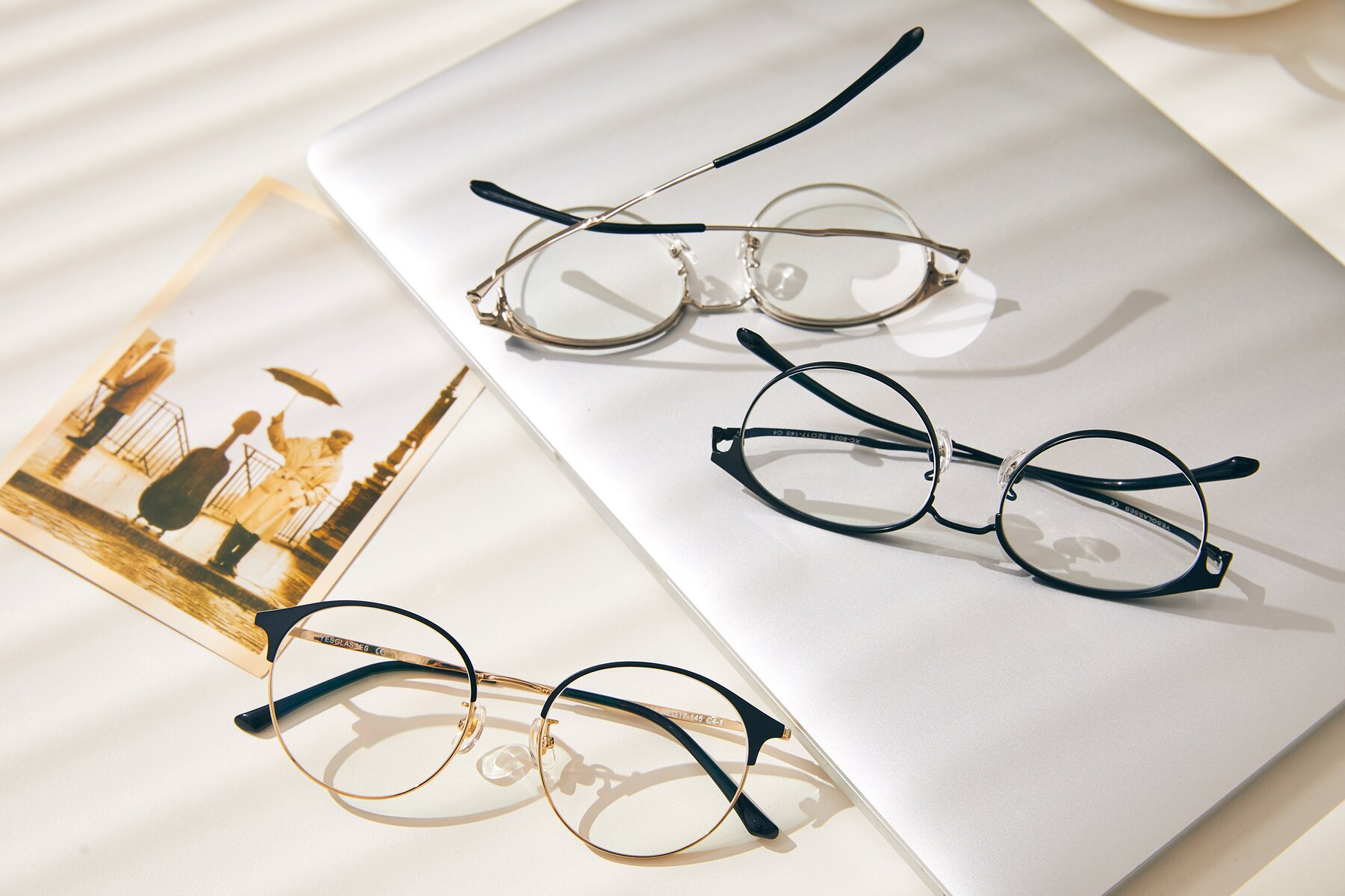 Lifestyle photography #4 of XC-8031 in Black-Gold with Clear Eyeglass Lenses