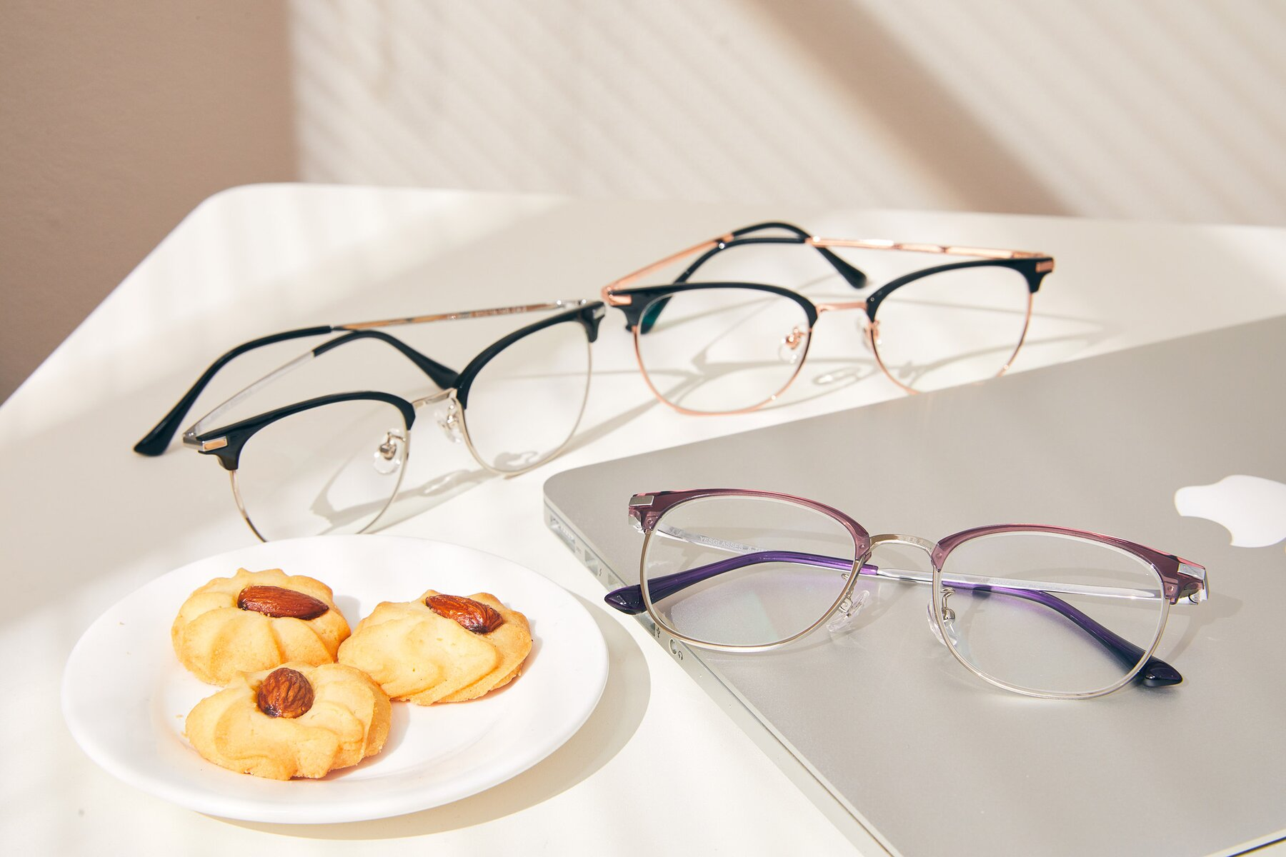 Lifestyle photography #4 of XC-5002 in Purple-Silver with Clear Eyeglass Lenses