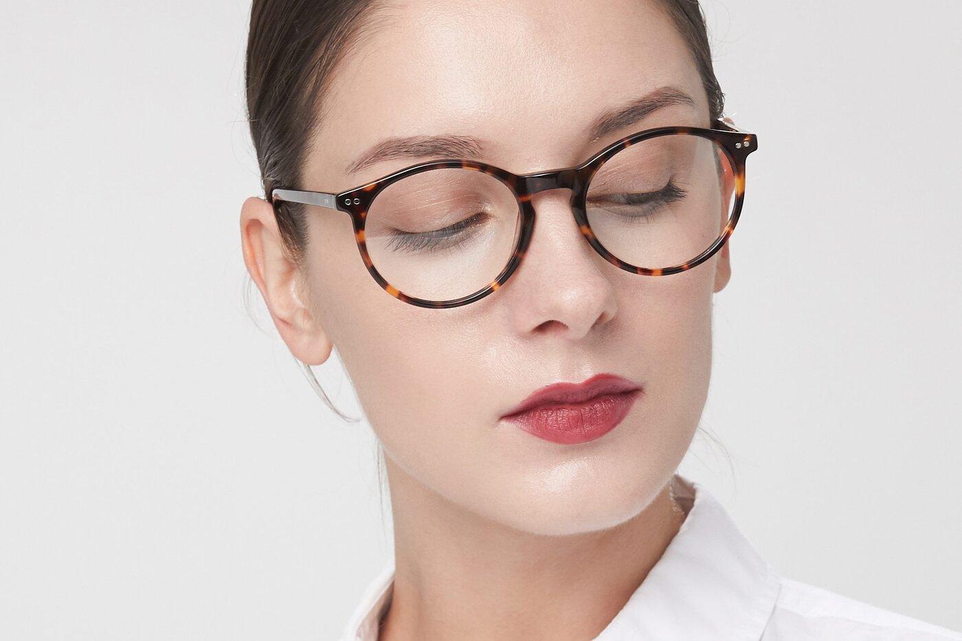Tortoise Narrow Wayfarer Acetate Eyeglasses