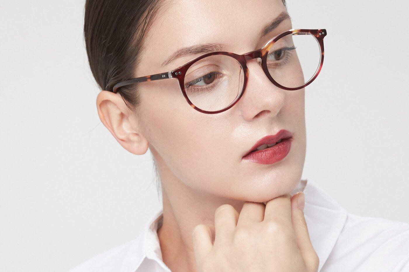 Tortoise-Clear Narrow Wayfarer Acetate Eyeglasses