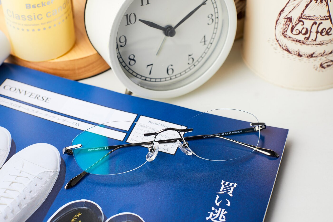 Gun Classic Oval Rimless Eyeglasses