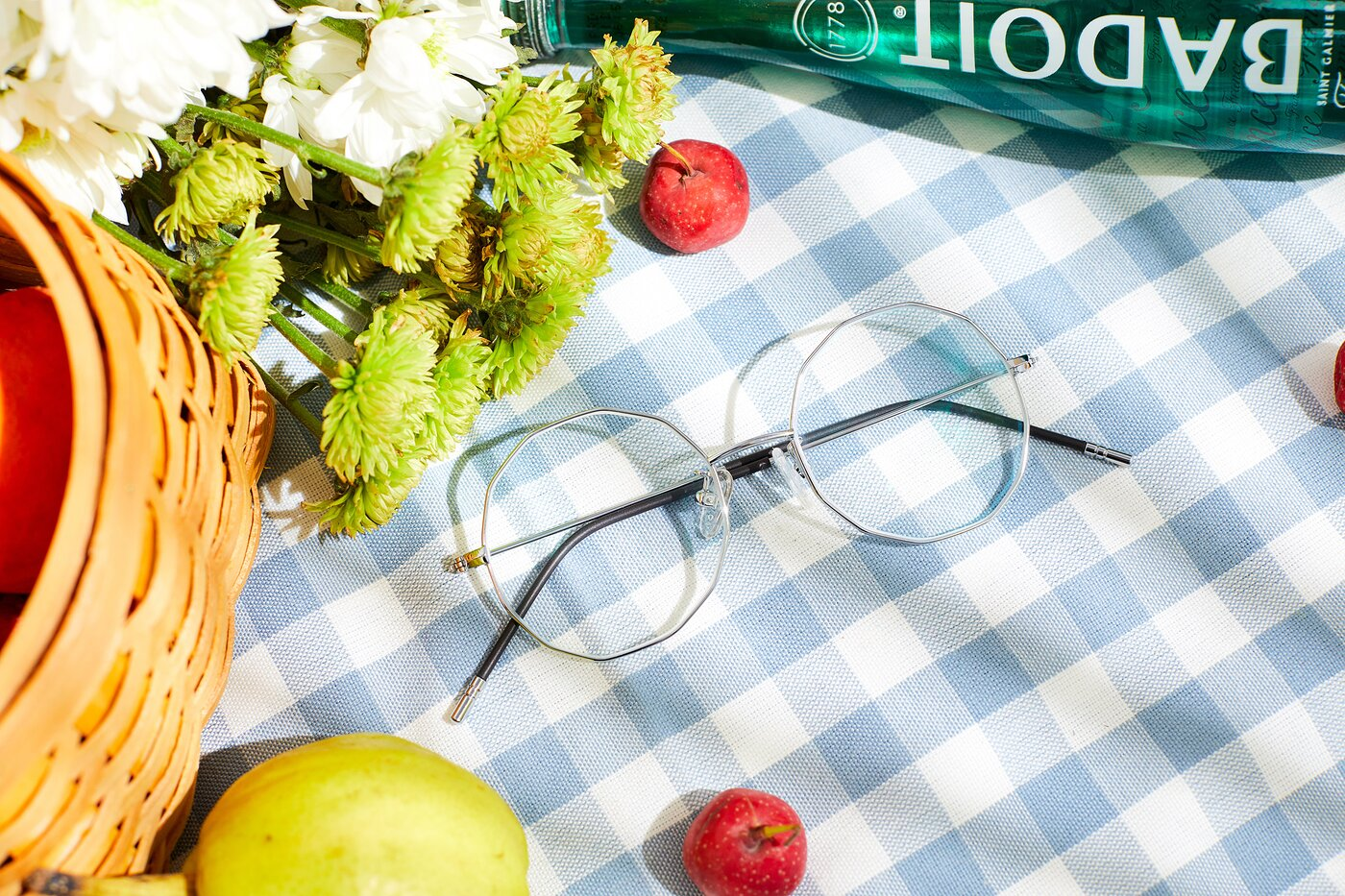 Silver Hipster Thin Geometric Eyeglasses