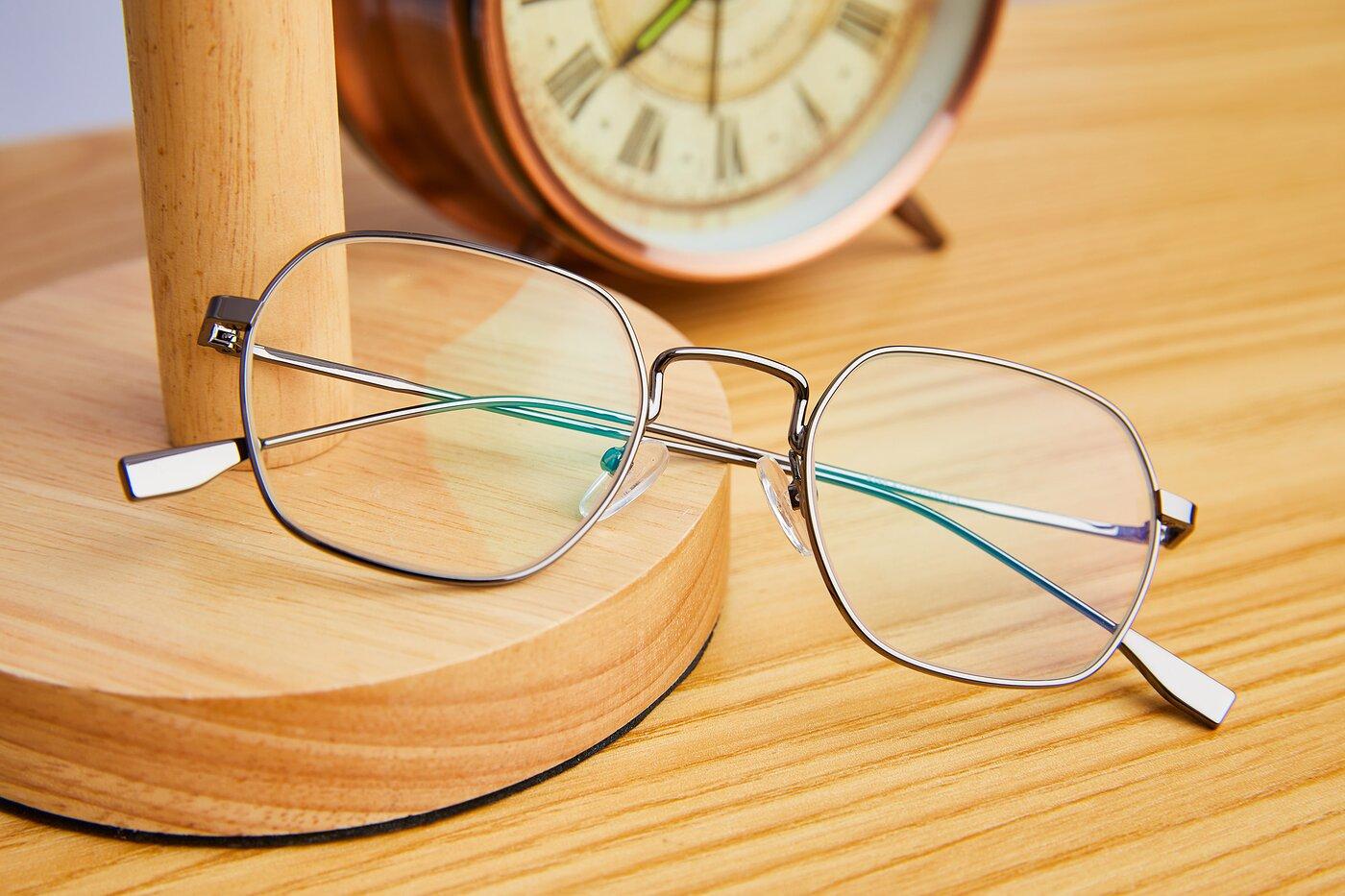 Gun Narrow Metal Geometric Eyeglasses