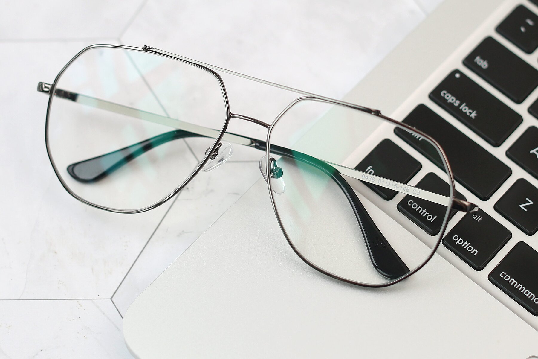 Lifestyle photography #1 of 9438 in Gunmetal with Clear Blue Light Blocking Lenses