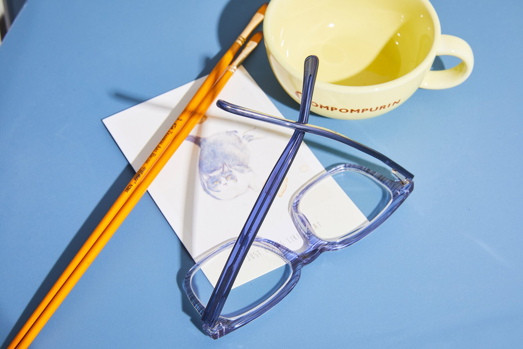 Lifestyle photography #3 of 17457 in Stripe Blue with Clear Blue Light Blocking Lenses