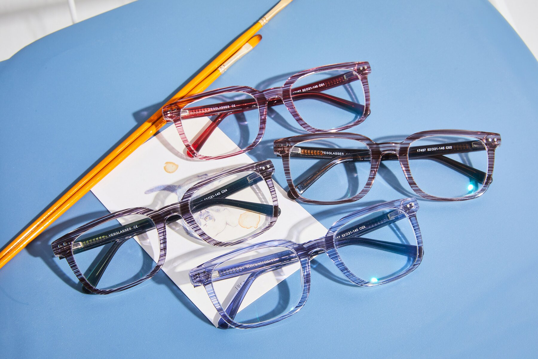 Lifestyle photography #4 of 17457 in Stripe Blue with Clear Blue Light Blocking Lenses