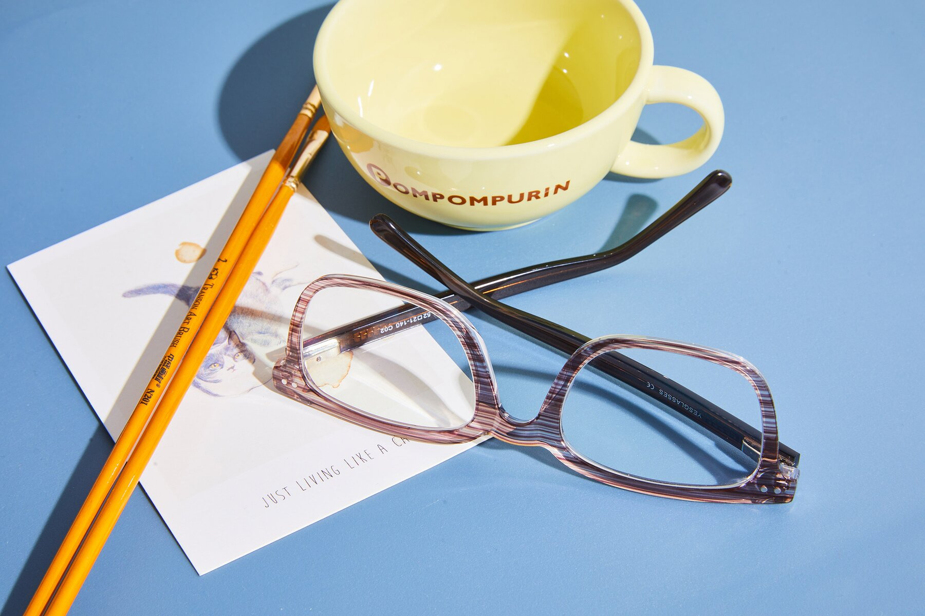 Women's lifestyle photography #2 of 17457 in Stripe Coffee with Clear Blue Light Blocking Lenses