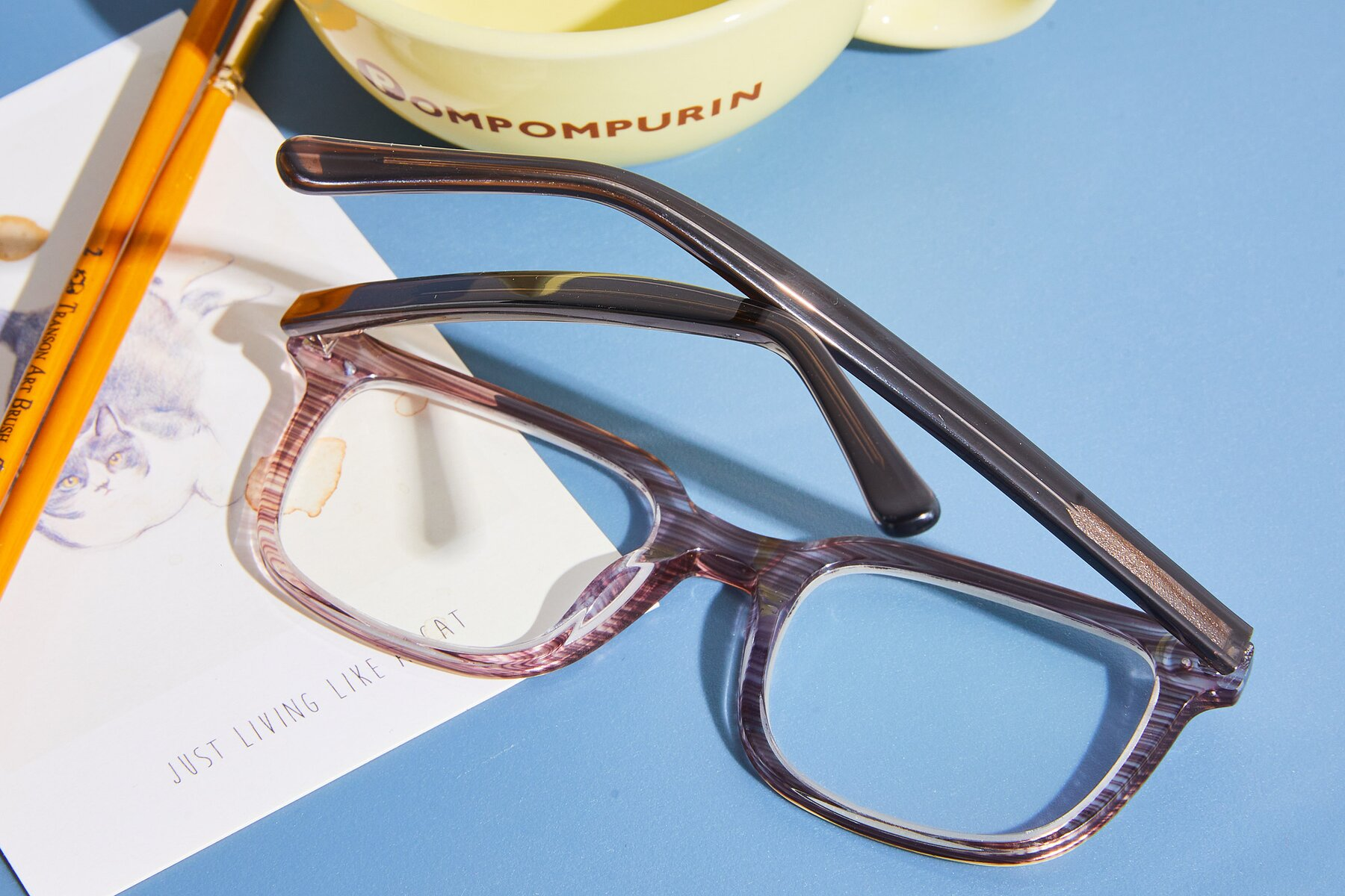 Women's lifestyle photography #3 of 17457 in Stripe Coffee with Clear Blue Light Blocking Lenses