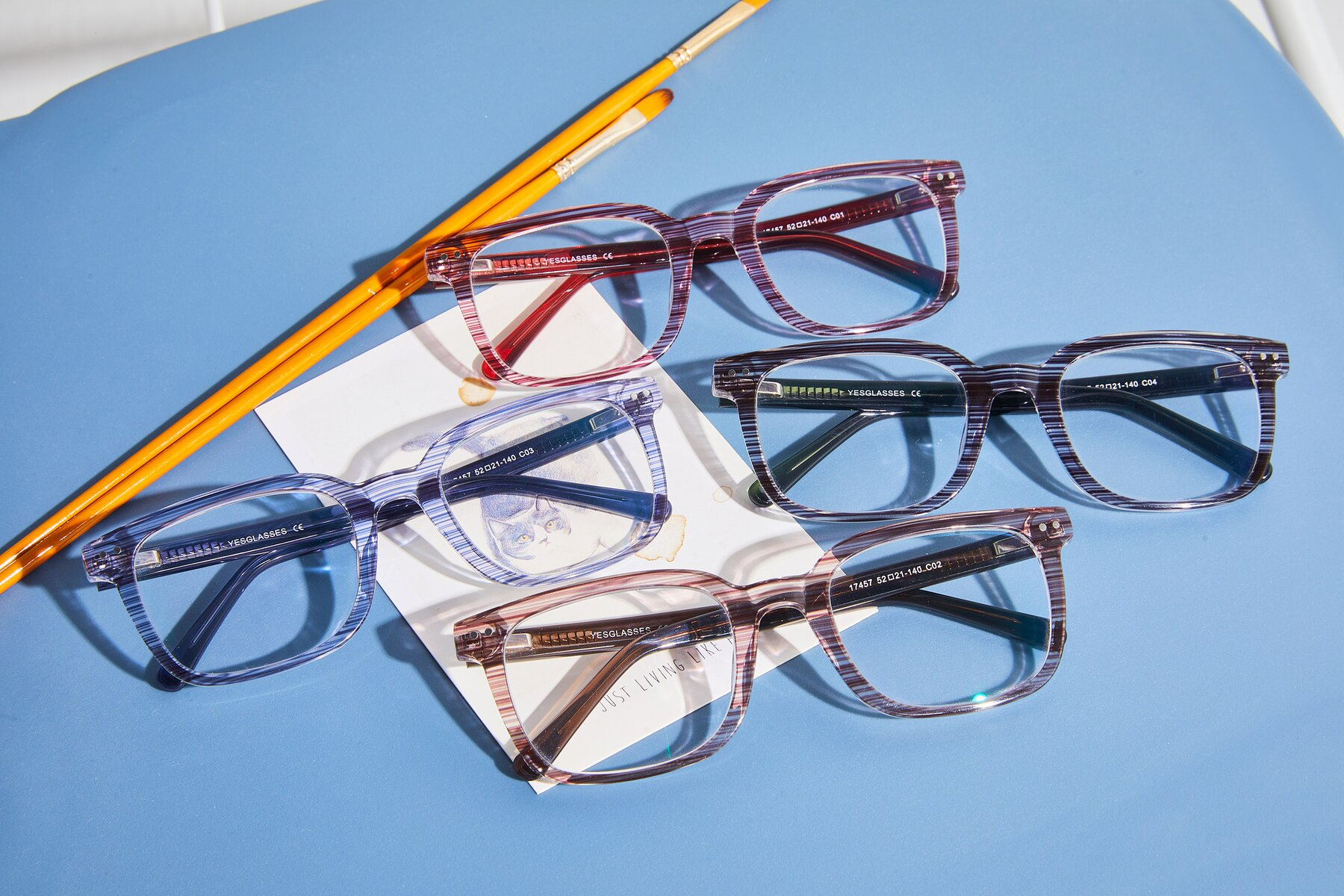 Women's lifestyle photography #4 of 17457 in Stripe Coffee with Clear Blue Light Blocking Lenses