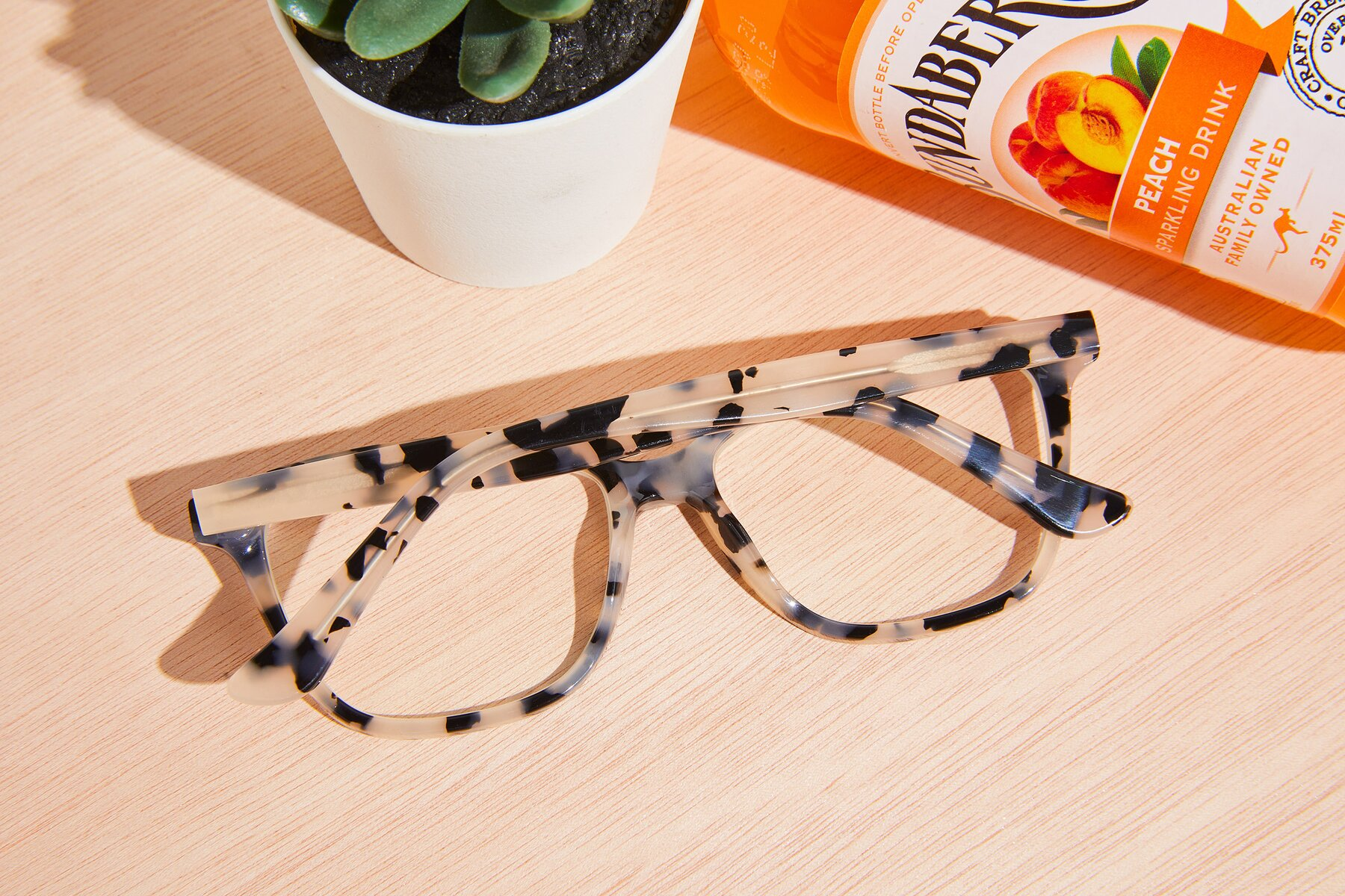 Lifestyle photography #2 of 17485 in Honey Tortoise with Clear Eyeglass Lenses