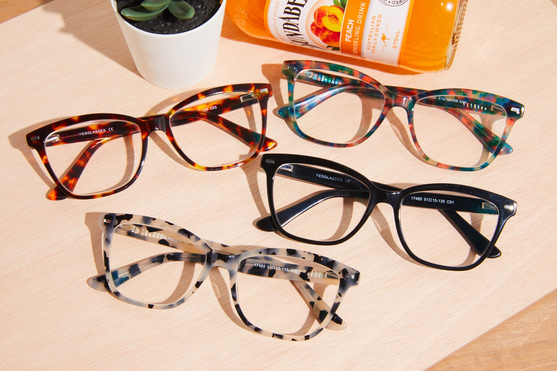 Lifestyle photography #4 of 17485 in Honey Tortoise with Clear Eyeglass Lenses