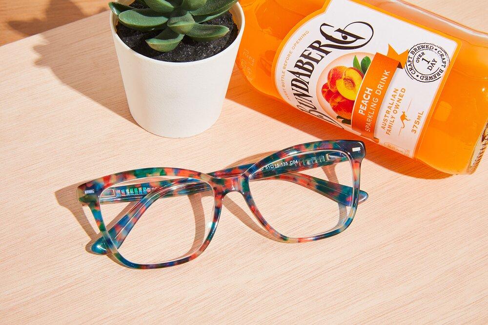 Floral Tortoise Retro-Vintage Acetate Cat-Eye Eyeglasses