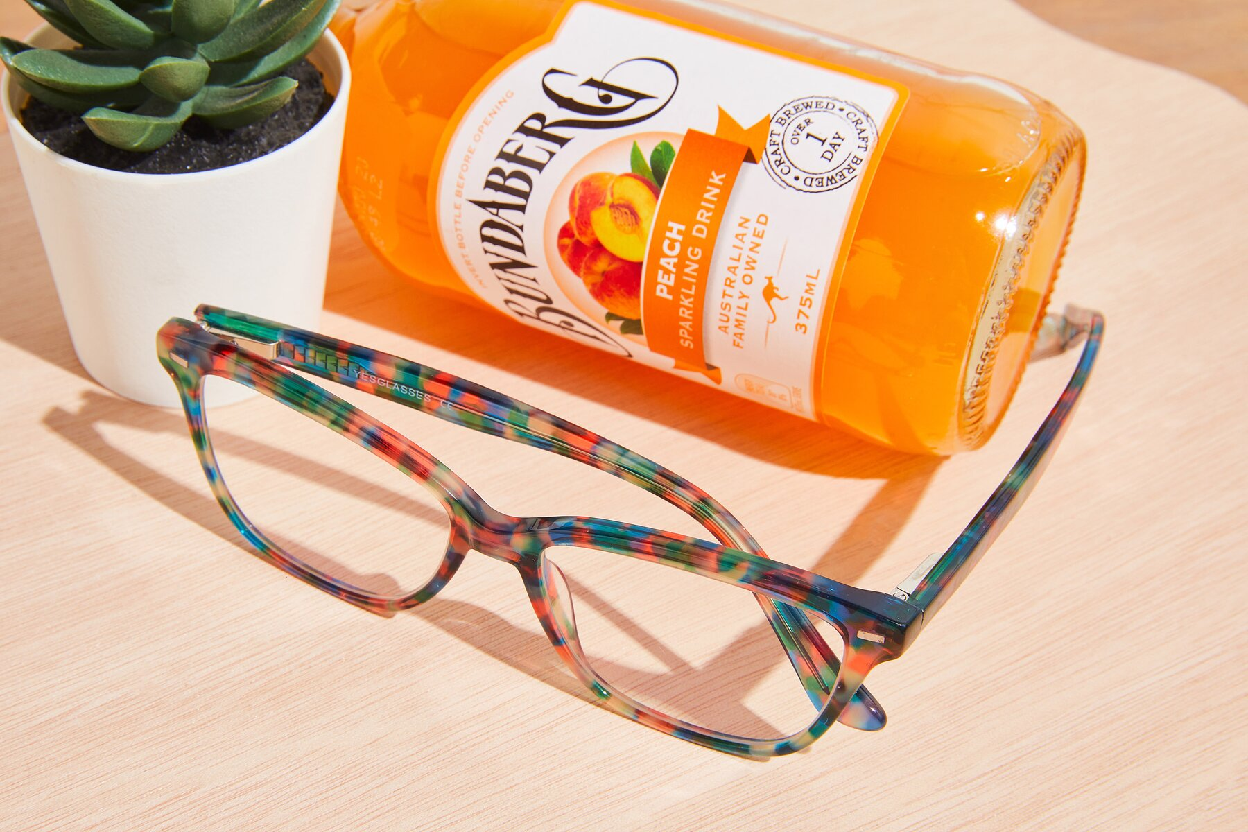 Lifestyle photography #2 of 17485 in Floral Tortoise with Clear Eyeglass Lenses