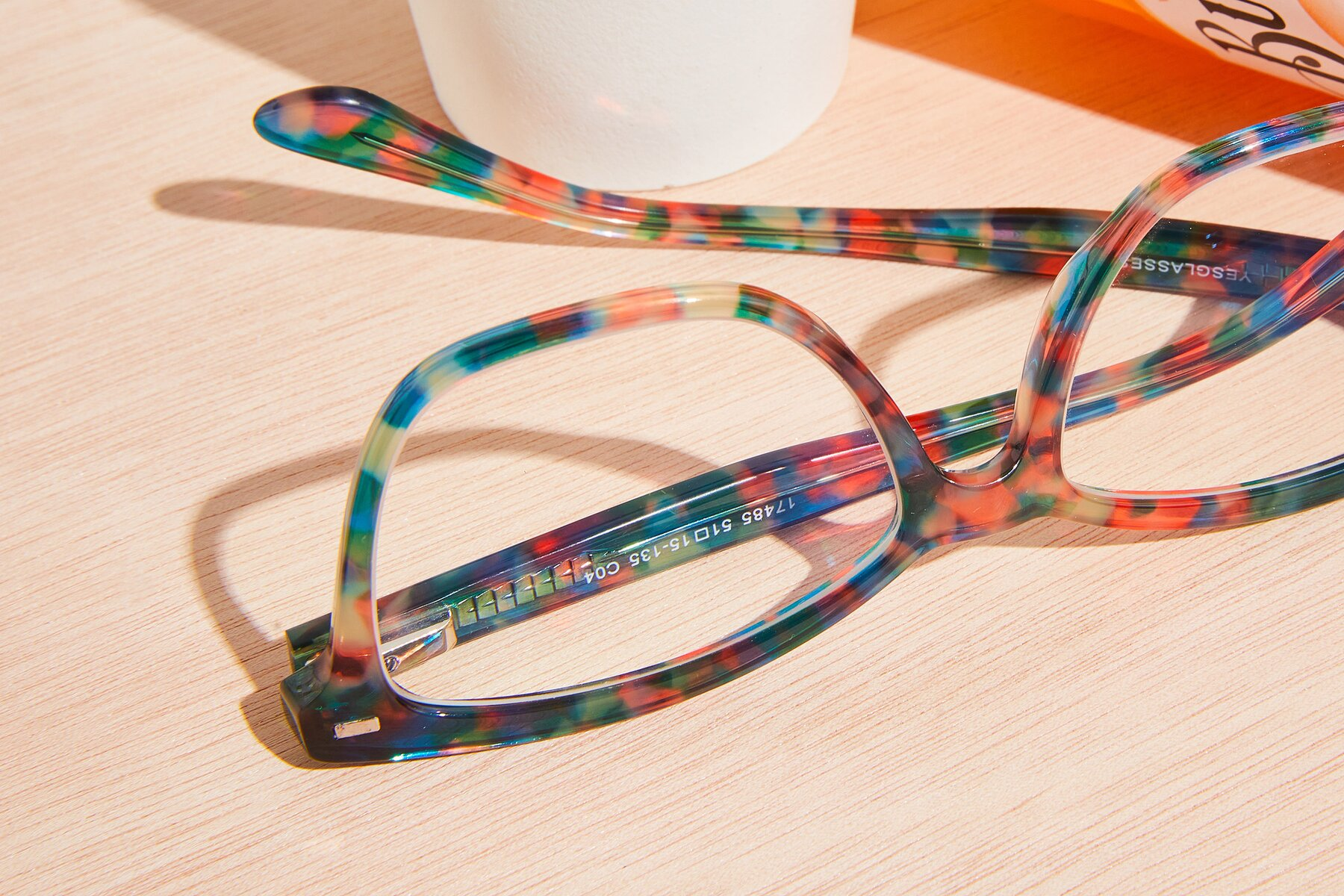 Lifestyle photography #3 of 17485 in Floral Tortoise with Clear Eyeglass Lenses