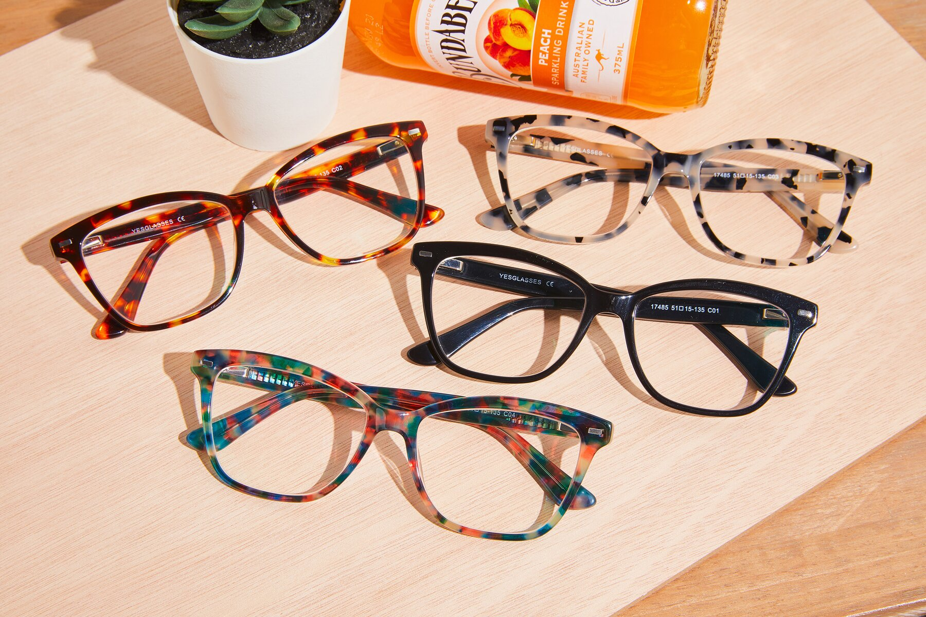 Lifestyle photography #4 of 17485 in Floral Tortoise with Clear Eyeglass Lenses