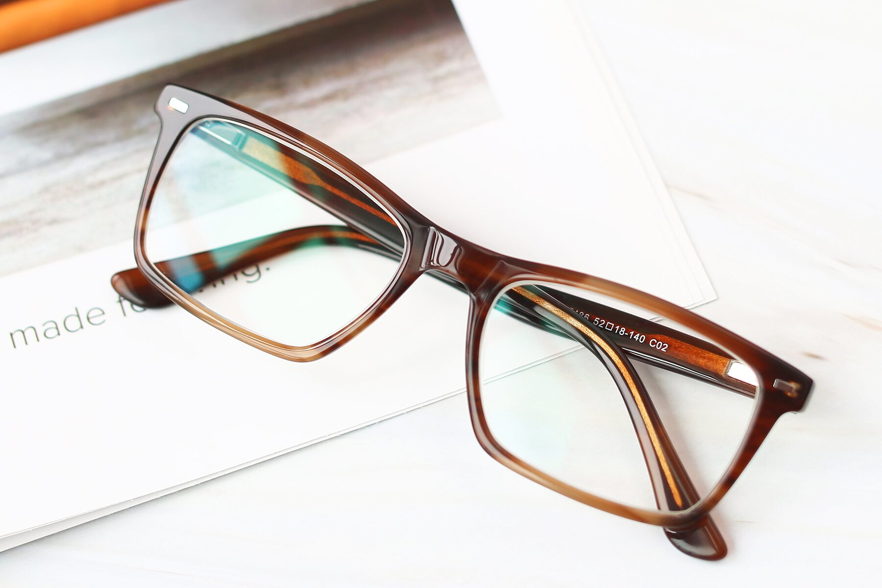Men's lifestyle photography #1 of 17486 in Brown with Clear Eyeglass Lenses