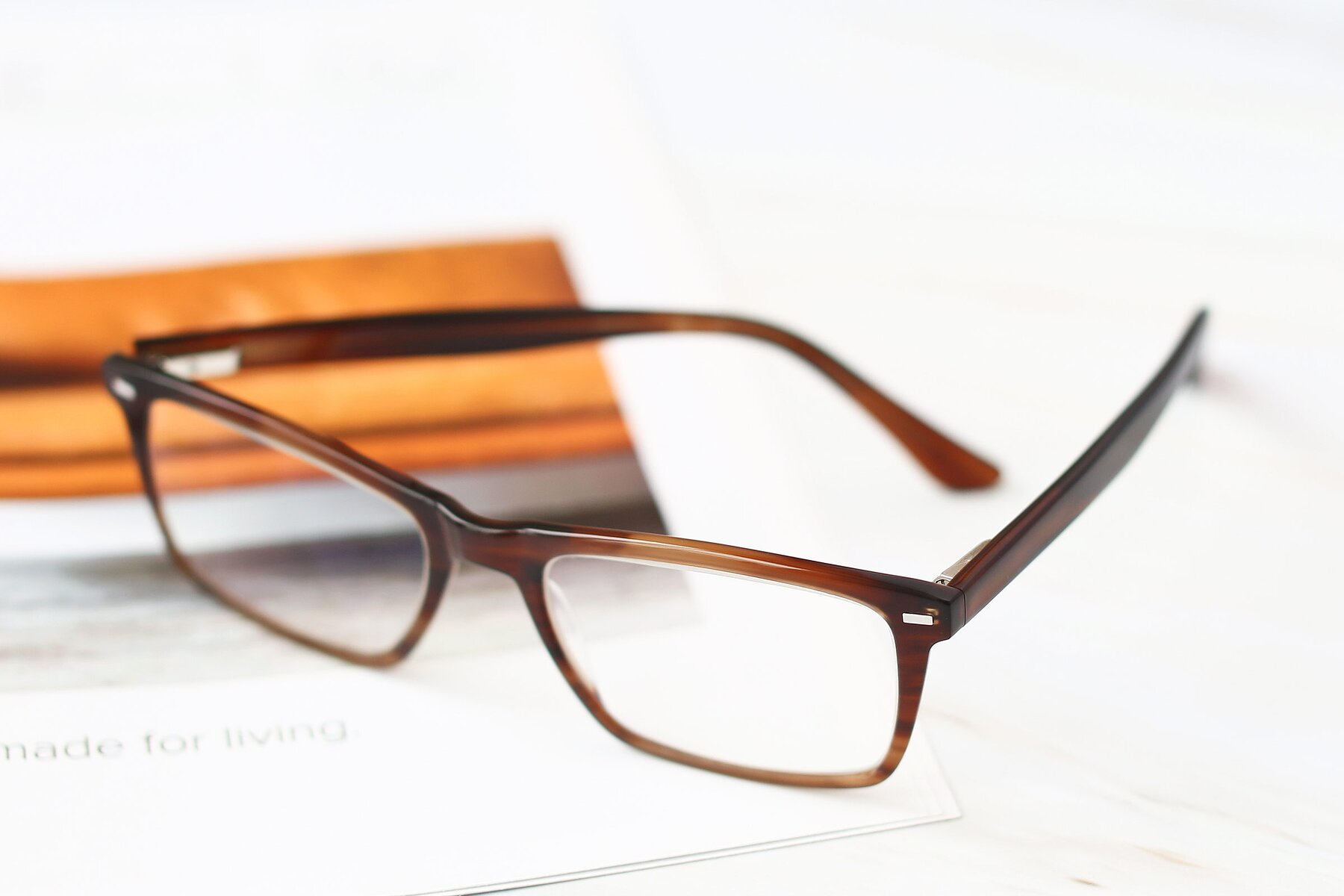 Men's lifestyle photography #2 of 17486 in Brown with Clear Eyeglass Lenses