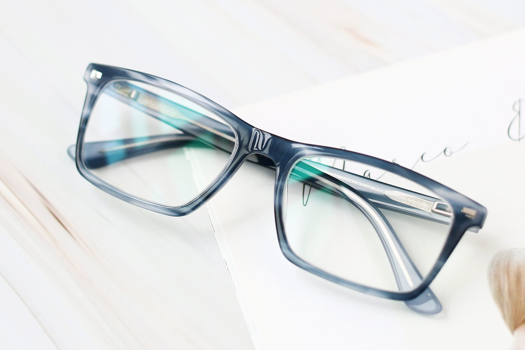 Men's lifestyle photography #1 of 17486 in Stripe Blue with Clear Eyeglass Lenses