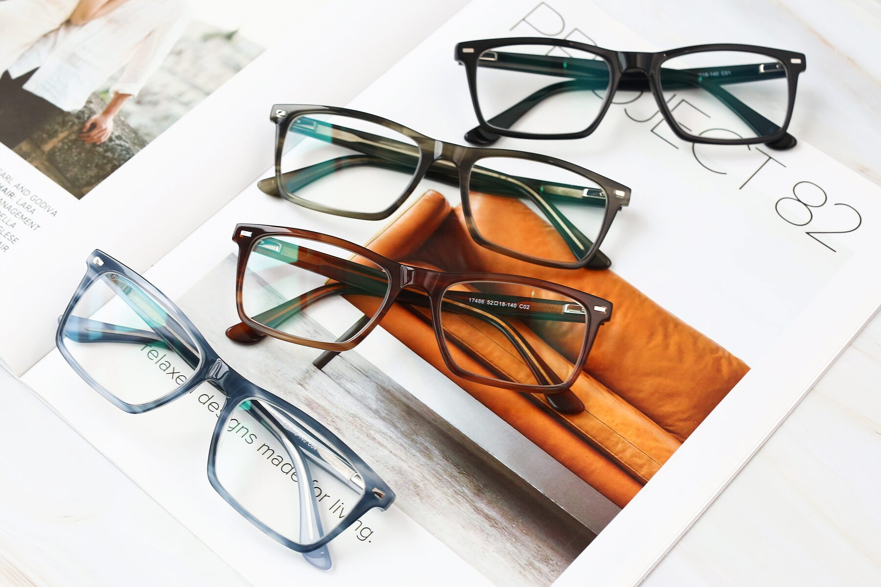 Men's lifestyle photography #4 of 17486 in Stripe Blue with Clear Eyeglass Lenses