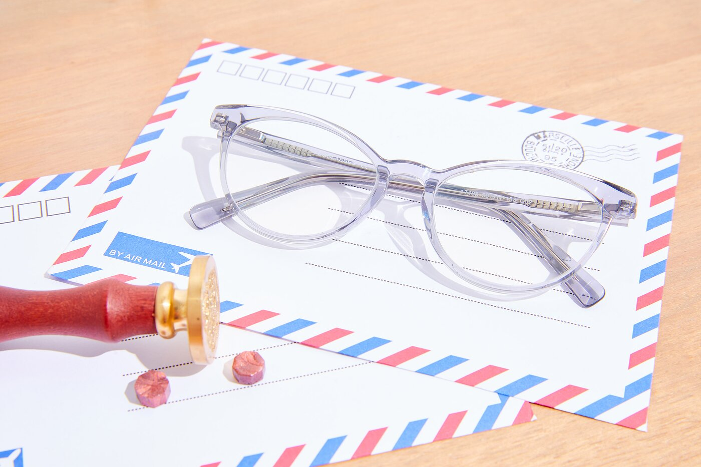Grey-White Narrow Keyhole Bridge Butterfly Eyeglasses