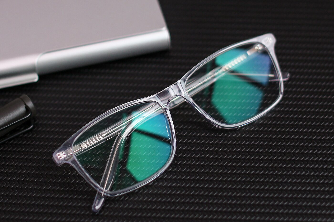 Clear Lightweight Acetate Rectangle Eyeglasses