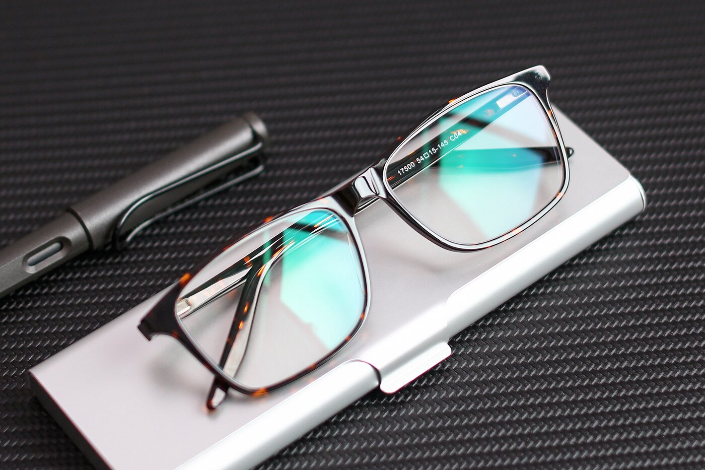 Tortoise Lightweight Acetate Rectangle Eyeglasses