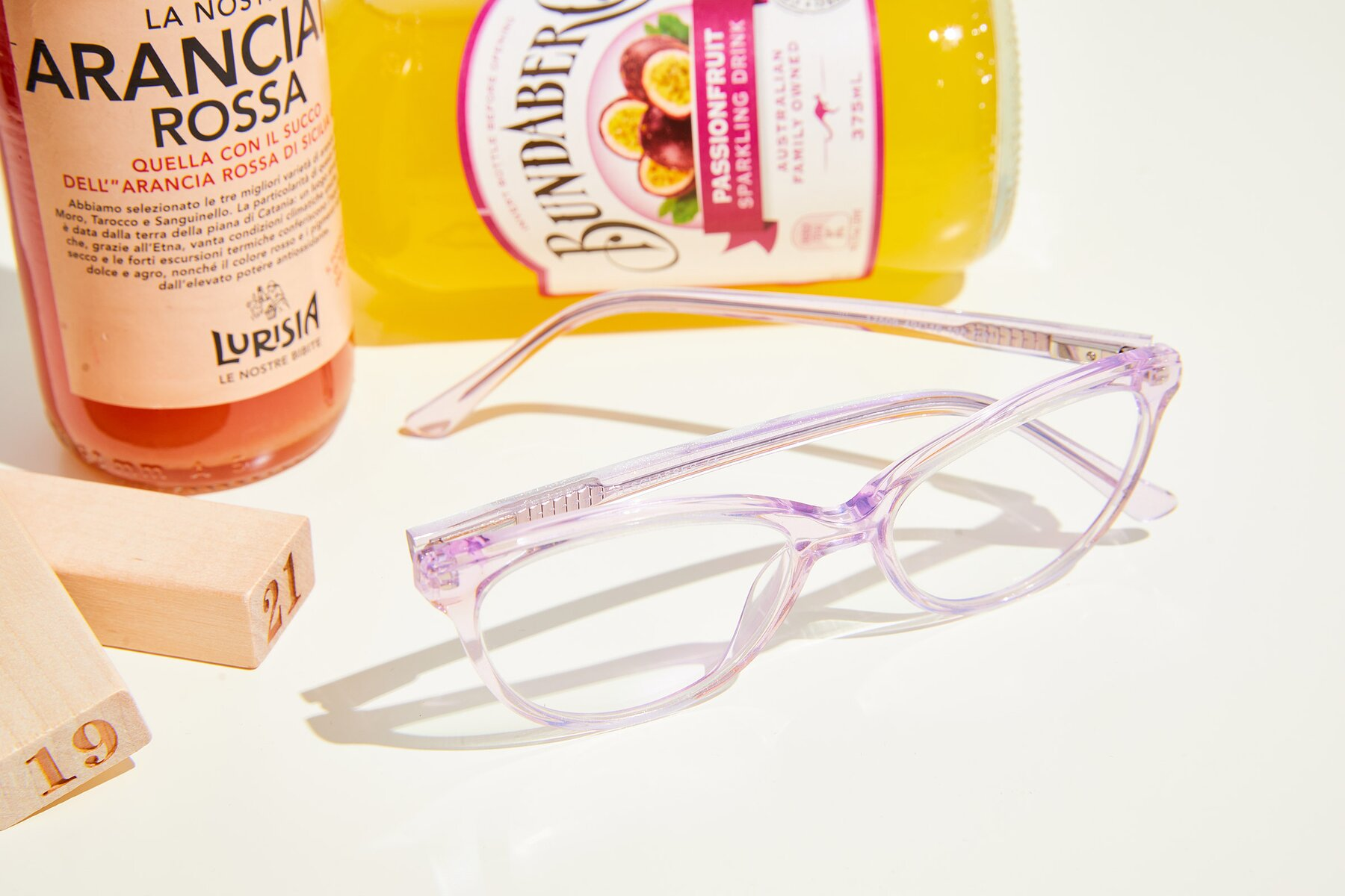 Women's lifestyle photography #2 of 17509 in Transparent Purple with Clear Eyeglass Lenses