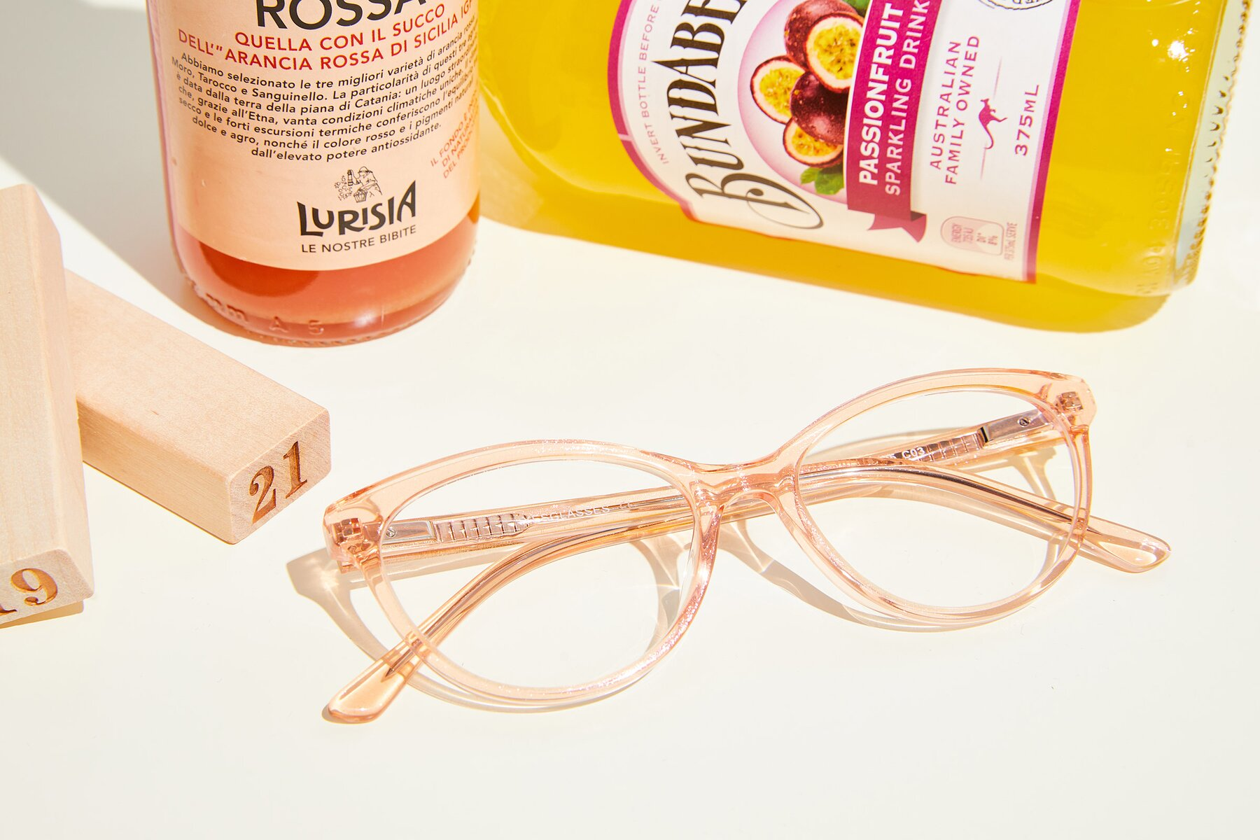Women's lifestyle photography #1 of 17509 in Transparent Caramel with Clear Eyeglass Lenses