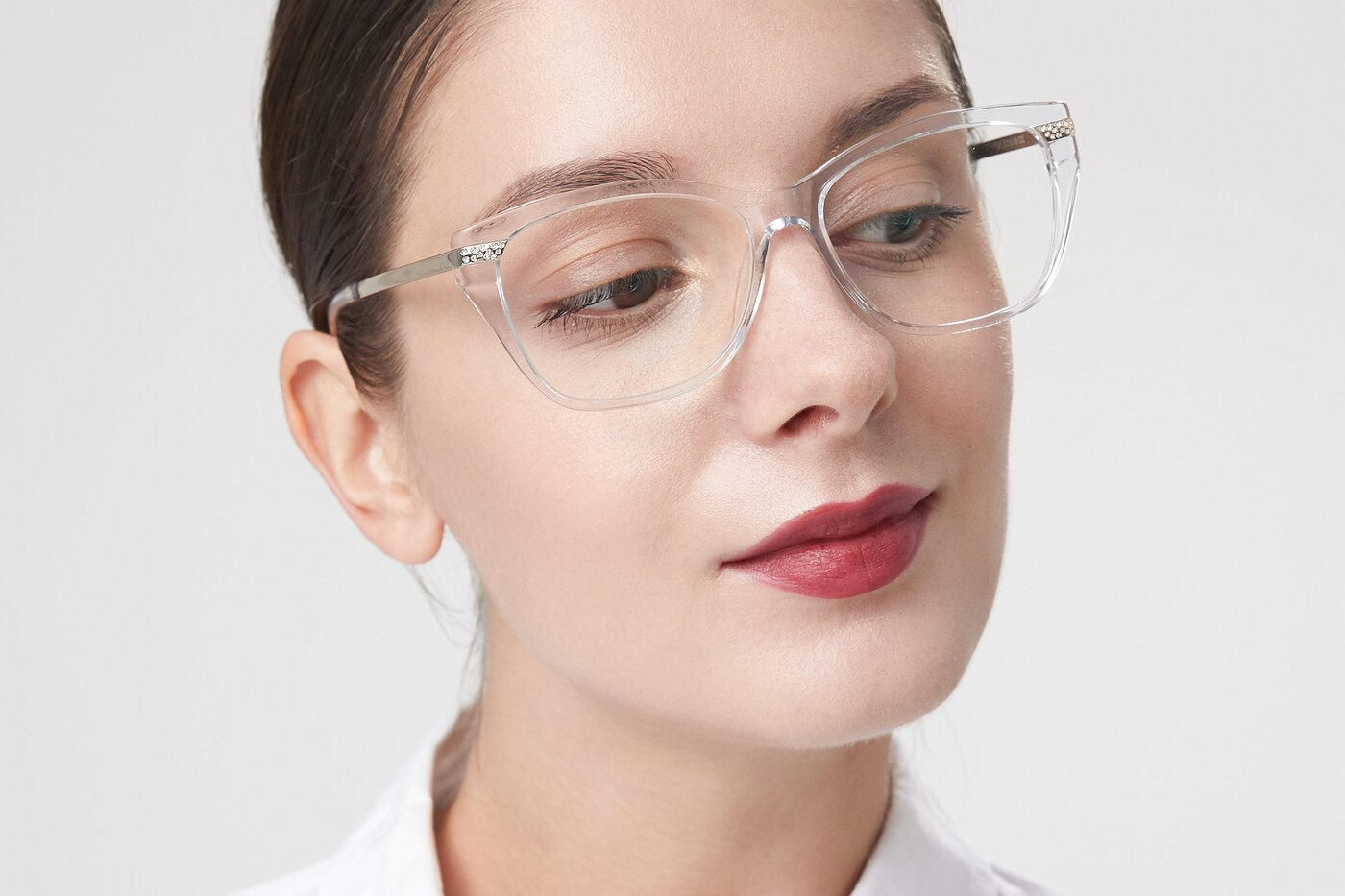 Clear Hipster Acetate Cat-Eye Eyeglasses