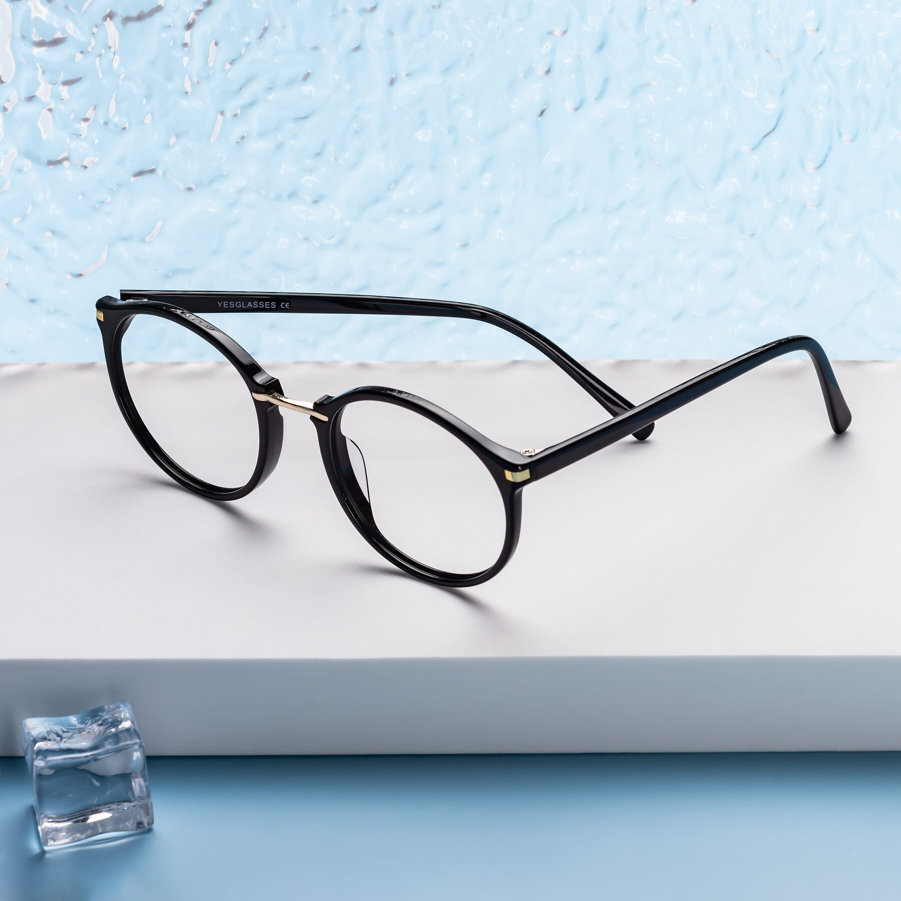 Lifestyle photography #1 of 17582 in Black with Clear Blue Light Blocking Lenses