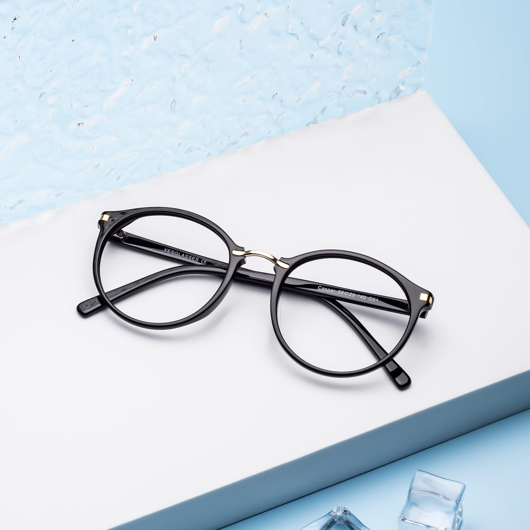 Lifestyle photography #2 of 17582 in Black with Clear Blue Light Blocking Lenses