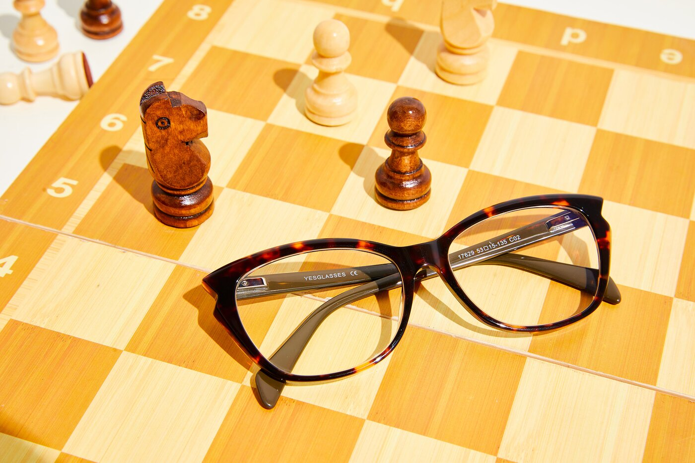 Tortoise Narrow Hipster Butterfly Eyeglasses
